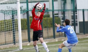 Imagen de un partido Oberena-Txantrea de Segunda Infantil disputado la pasada temporada.