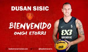El Basket Navarra da la bienvenida en las redes sociales a Dusan Sisic.