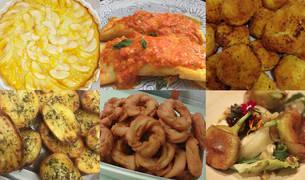Algunas de las recetas participantes.
