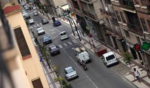 Foto de la vista general de la avenida de Zaragoza de Tudela, donde se detuvo al conductor.