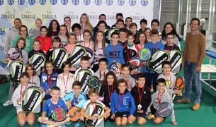 Participantes en la quinta jornada de la temporada de los Juegos Deportivos de Navarra de Menores.