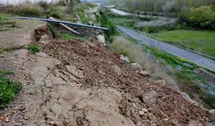 Obras Públicas inicia la reparación de un talud en Sartaguda