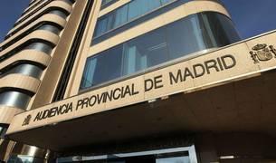 Imagen de la entrada a la Audiencia provincial de Madrid.