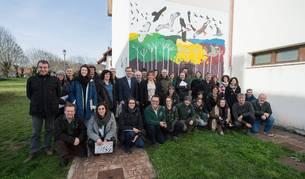 Foto de los participantes en el proyecto 'Lindus 2' posan en la jornada de clausura celebrada el martes en Burguete.