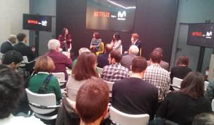 Imagen de la presentación de la fusión entre Movistar y Netflix, presentada el lunes.