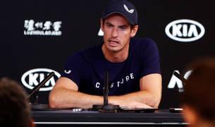 Andy Murray durante la rueda de presna en Melbourne en la que ha anunciado el final de su carrera.