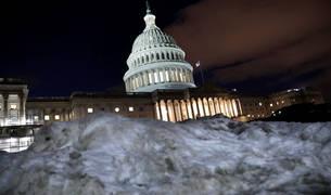 El Capitolio, tras las nevadas de estos días en Estados Unidos