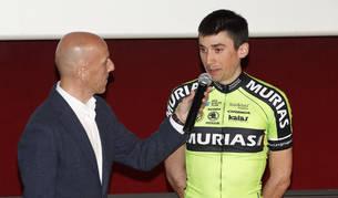 El burladés Óscar Rodríguez ciclista del Euskadi Murias.