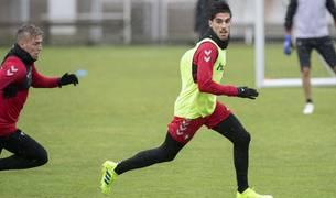 Nacho Vidal, en el entrenamiento de este jueves.