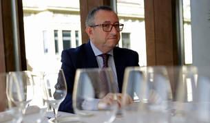 Jesús Berisa Berisa, presidente de Eventshotels, en el restaurante de Baluarte, durante la entrevista.