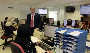 Miguel Ángel Latasa, director general de Conasa, en las oficinas de la empresa.