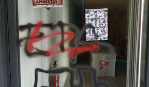 Bildu y Aranzadi se abstienen de condenar las pintadas en la sede de Ciudadanos