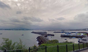 Vista del puerto de Hondarribia, en Guipúzcoa.
