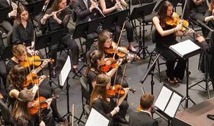 La Orquesta Sinfónica de la Universidad de Navarra.