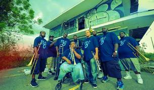 La banda de Nueva Orleans Hot 8 Brass Band.