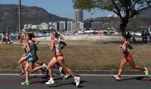 Foto de la atleta Estela Navascués, que participó por primera vez en Río en unos Juegos.
