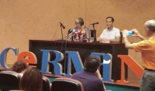Rueda de prensa sobre valoración de los Sanfermines desde la perspectiva de la accesibilidad.