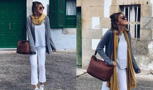Cómo combinar pantalones blancos en otoño