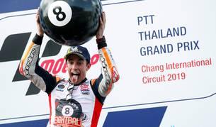 Foto del piloto español de MotoGP Marc Márquez, de Repsol Honda.
