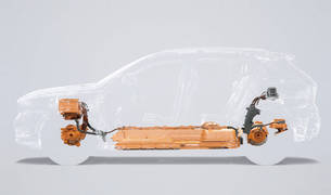 RADIOGRAFÍA DE UN ELÉCTRICO. El XC40 eléctrico emplea la misma plataforma que los gasolina o diésel, lo cual aumenta su rentabilidad constructiva. El nuevo eléctrico montará ahora las baterías bajo los asientos, y un motor por cada eje.