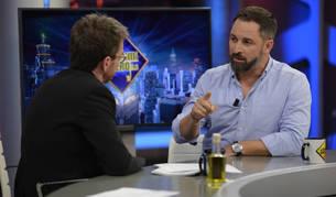 foto de Santiago Abascal, durante la entrevista en El Hormiguero.