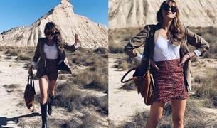 Look con minifalda para otoño