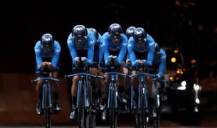 El Movistar, en la crono por equipos del pasado Tour de Francia.