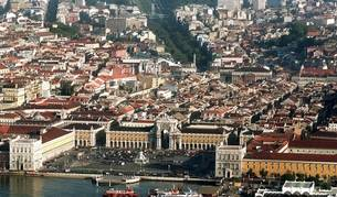 Vista aérea de Lisboa.
