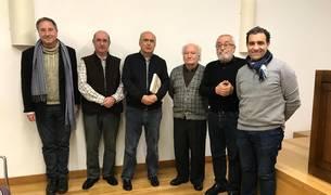 De izda. a dcha.: Rafael Blanco, Miguel Guelbenzu, Juan José Martinena, Juan Cruz Labeaga, David Maruri e Iñaki Garrido.