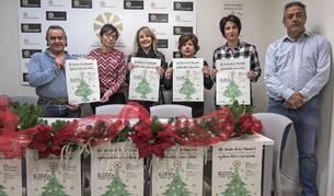 Desde la izquierda, José Flamarique, Loreto San Martín, Cristina Pérez, Maribel Ausejo, Ana Benito y Carlos Garagarza, este jueves durante la presentación de la campaña de Navidad.