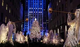 Fotos del encendido del árbol del Rockefeller Center, en Nueva York