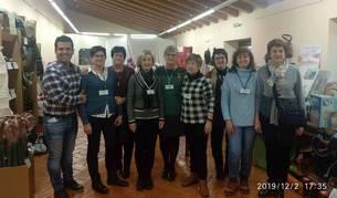 Imagen del grupo de voluntarios que hace posible la celebración del Mercadillo solidario de Aibar.
