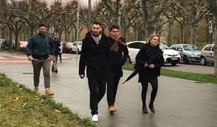 foto de Los exjugadores de La Arandina llegan a la Audiencia de Burgos junto con la defensora de uno de ellos