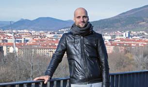 Gorka Jiménez Liberal en el mirador del Caballo Blanco de Pamplona.