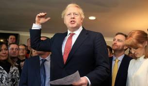 Imagen del primer ministro británico, Boris Johnson, en su visita al norte de Inglaterra.