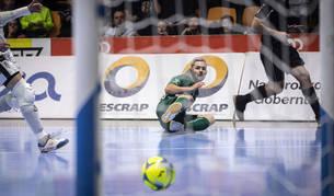 El ala de Osasuna Magna Dani Saldise marcó dos goles en el último partido de su equipo en el Anaitasuna.