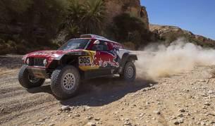 Carlos Sainz, durante la novena etapa del Dakar.