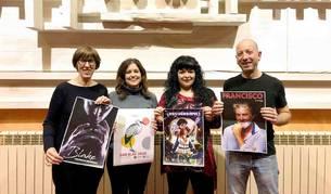 La técnica de Cultura, Ana Martínez y los concejales: Lourdes San Miguel, María Morentín y Kike Ataun.