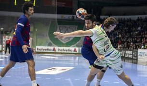 Imagen del partido Helvetia Anaitasuna-Barcelona.