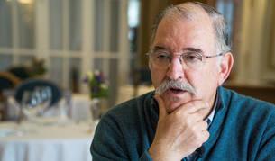 Pedro Subijana, durante una entrevista en el Hotel Real de Santander