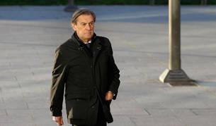 foto de Archanco, a su llegada a la Audiencia de Navarra