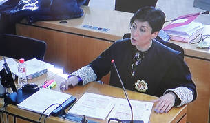 foto de La fiscal del caso Osasuna, durante la presentación de su informe de conclusiones