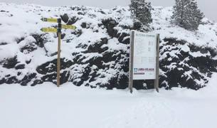 foto de Una imagen de las pistas de Larra Belagua está mañana tras la nevada.