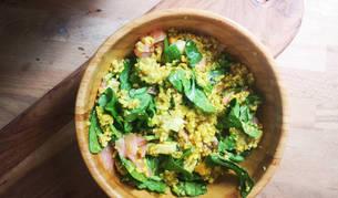 Arroz y quinoa en un mismo plato
