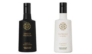Capricho by Sandúa Ecológico Arbequina  y Capricho by Sandúa Ecológico Arbequina, los dos aceites premium presentados por Sandúa.
