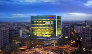 Imagen del edificio central de Ibercaja en Zaragoza