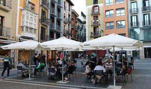 Así están preparando los bares de Pamplona la fase 2