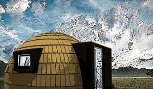 Recreación de uno de los alojamientos tipo 'iglú' que ofertará en la Selva de Irati  el proyecto 'Irati Barnean'.