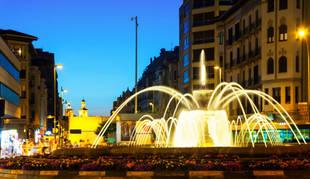 Imagen de un atardecer en Pamplona