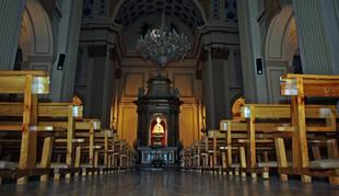 El interior de la capilla de San Fermín, en la iglesia de San Lorenzo de Pamplona